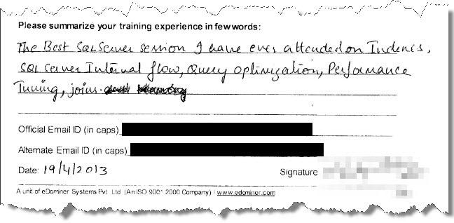 13_SQL_Server_Training_Performance_Tuning_Bangalore_April_2013